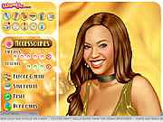 Beyoncé dressup and makeover game